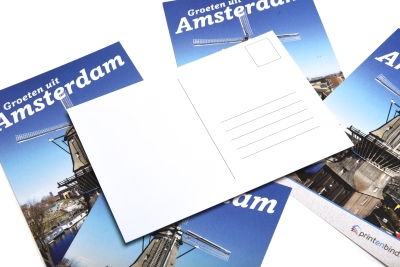 Experience the convenience and low price rates of printing postcards online, also with small quantities