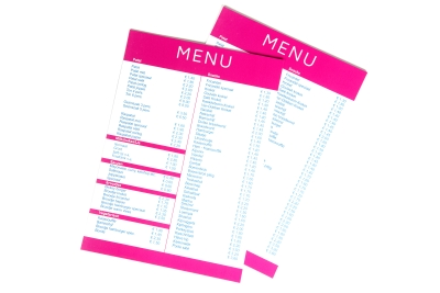 High quality menus, weather and waterproof