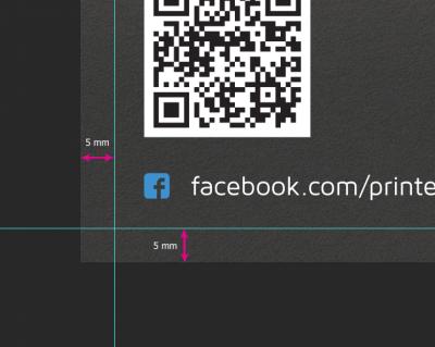 Ontwerp je flyer met een marge van tenminste 5 mm